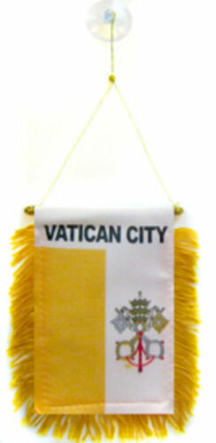 "Vatican City Mini Flag 4/""x6/"" Window Banner w// suction cup"