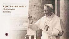 ⁂ Pope John Paul I - ULTRA RARE Holy Card with II class FREE RELIC -Pope Albino