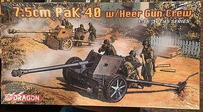Dragon German 7.5cm Pak 40 Heer Gun Crew 1//35 39-45 Series #6249