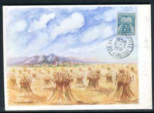 Andorre - Carte Maximum En 1958 - Gerbe De Blé