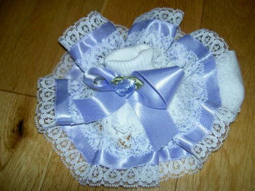 Elegant Ribbon Flower Cluster Satin Lace Frilly Ankle Socks Jazziejems Boutique