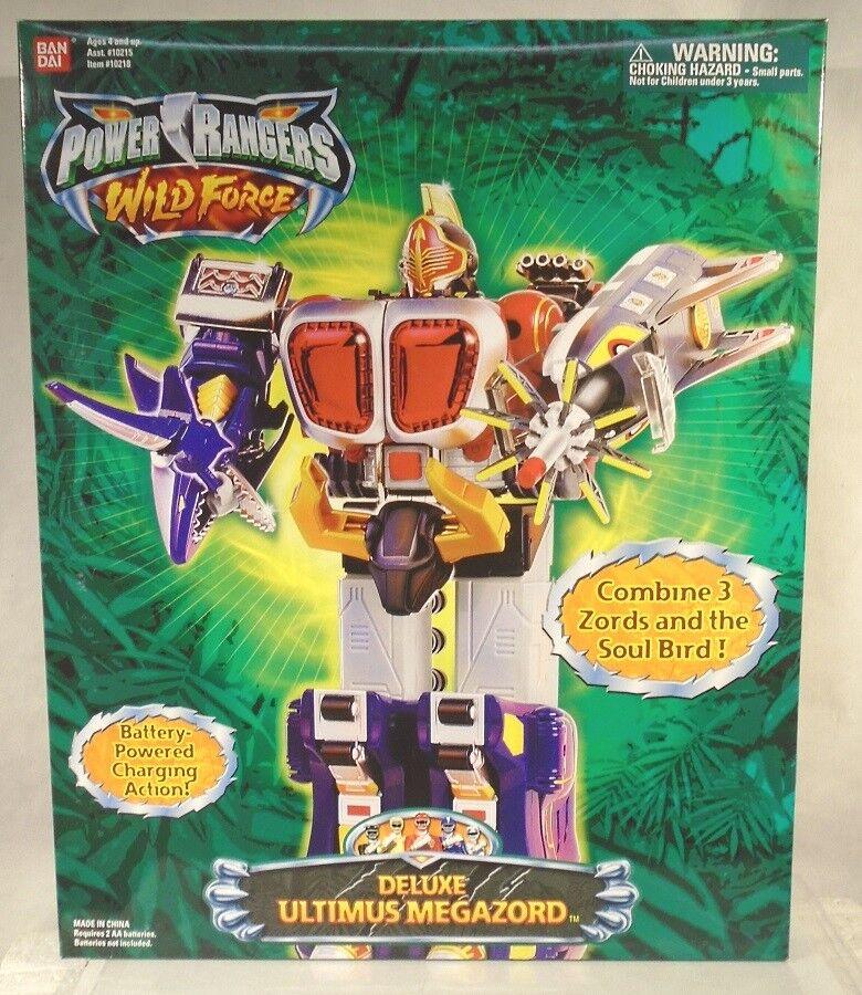 Power Rangers Wild Force Deluxe Ultimus Megazord Bison Gorilla Shark Zords MISB