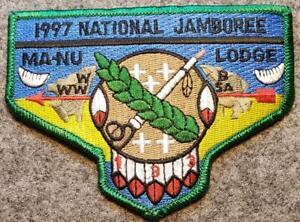 1997-National-Jamboree-Lodge-133-Ma-Nu-GRN-BDR-S39-Last-Frontier-Council-OA-BSA