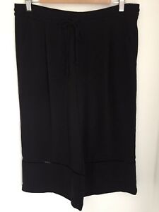 Size Zara Culottes Skirt Large Divided Black wqAvq8I