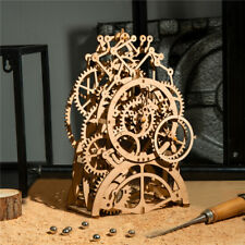 Robotime Laser-Cut Pendulum Clock Model Kit Mechanical Wooden Gear 3D Puzzle Kit