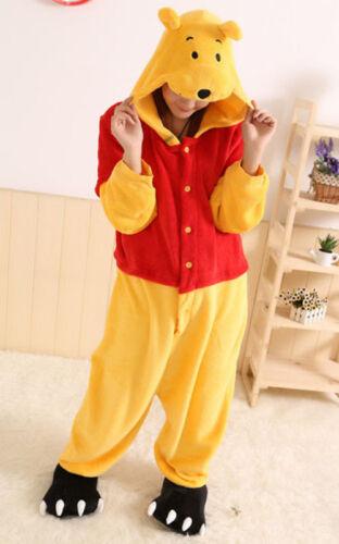 Winnie the pooh Adult Pajamas Kigurumi Cosplay Costume Animal  Sleepwear