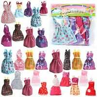 Barbie Dress Up Clothes Lot Cheap Doll Accessories Handmade Clothing Pack Of 9