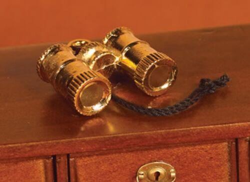 Escala 1:12 par de binoculares de metal tumdee única de casa de muñecas en miniatura 2041
