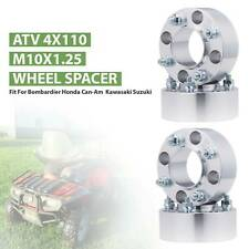 "4pcs 2"" Thick ATV 4x110 4/110 Wheel Spacers 10x1.25 Studs & Tapered Lug Nuts"