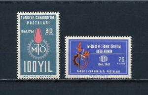 Turkey-1521-2-MNH-Technology-Schools-1961