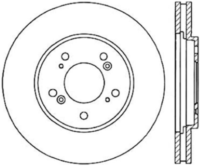 Disc Brake Rotor-Sport Cryo Drilled/Slotted Disc Front