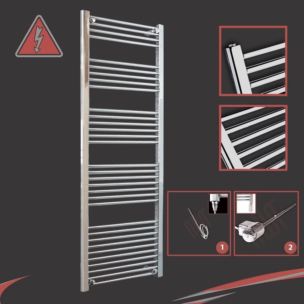 600mm (w) x 1600mm (h) préremplie électrique droite porte-serviettes chrome - 600W
