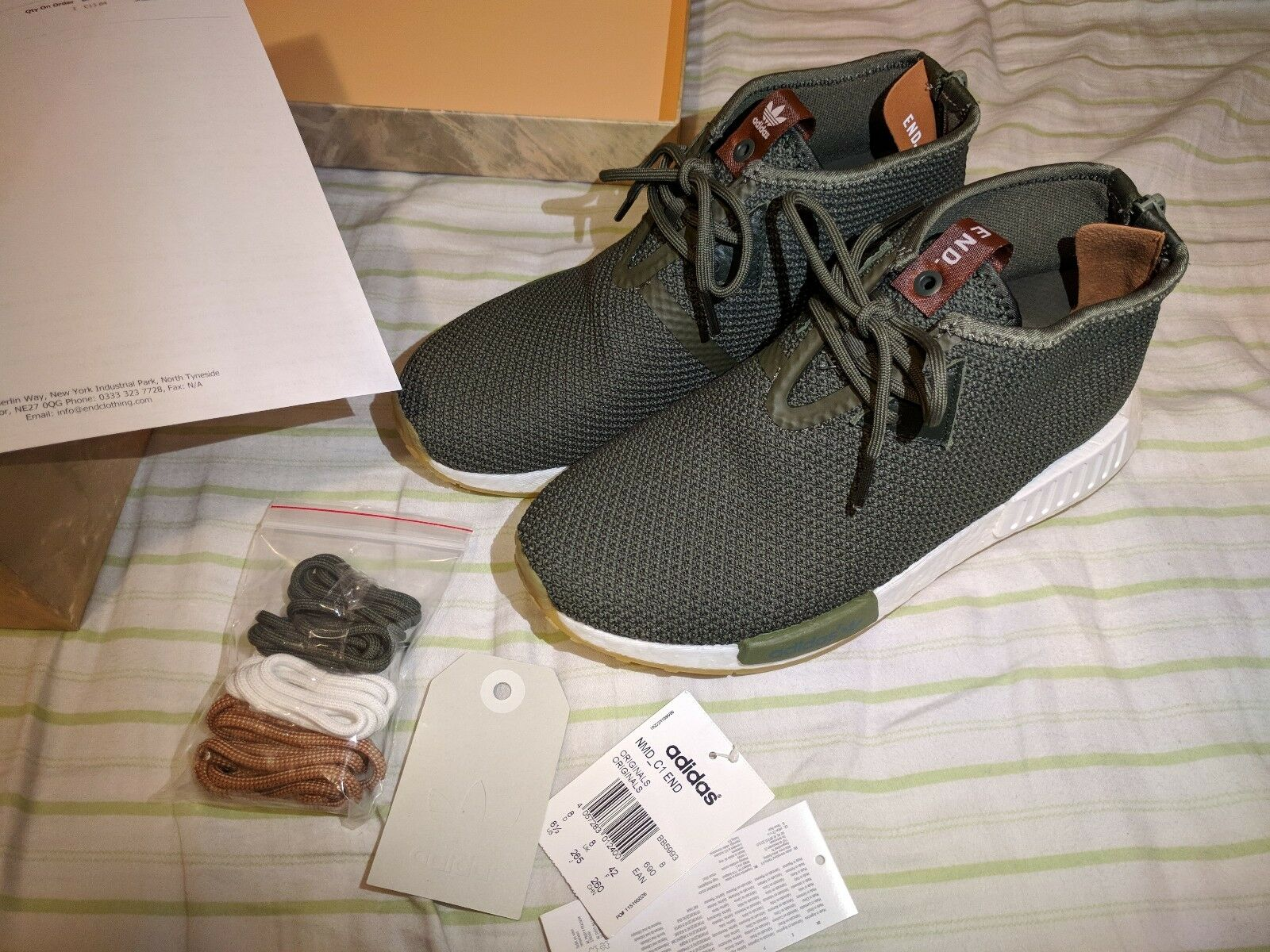 DS END X adidas Consortium NMD_C1 Sahara BB5993 Olive US 8 Special Packaging