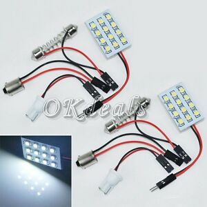 White-DC-12V-Panel-1210-SMD-12-LED-Interior-BA9S-Bulb-Car-Festoon-Dome-Light