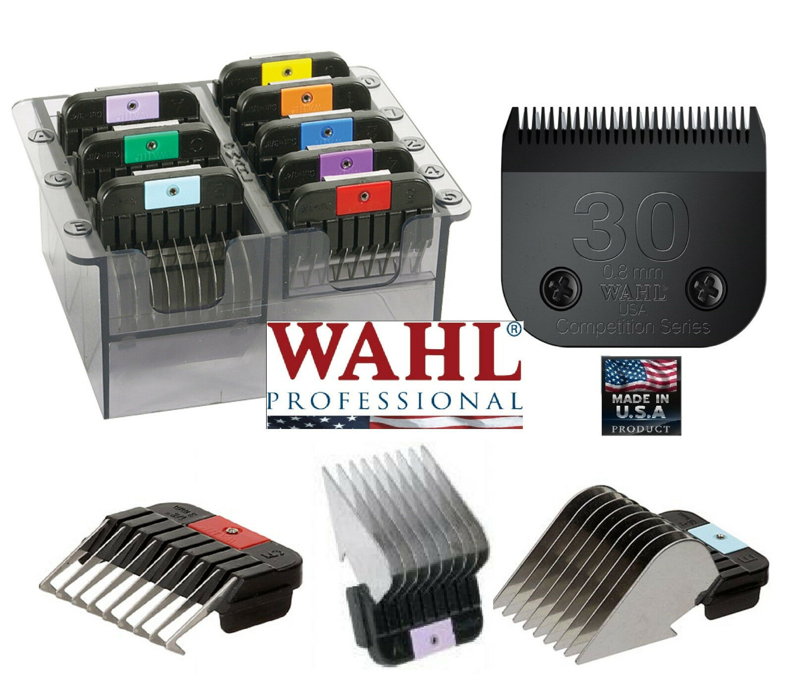 Wahl Stainless-Steel ATTACHMENT COMB SET&ULTIMATE BLADEFit KM2,KM5 Clipper