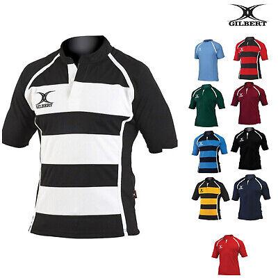 Gilbert Rugby Adult Xact Match Shirt Short Sleeve Casual Summer T-Shirt XS-3XL