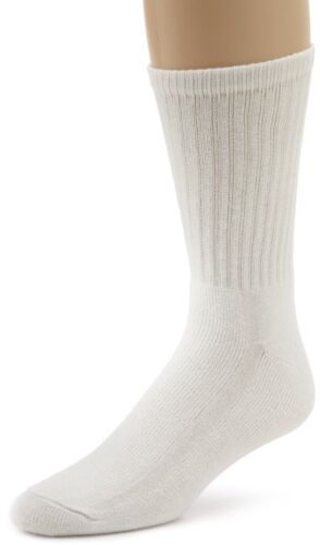 Davido mens socks crew 100/% cotton made in Italy 12 pairs white 10-13 causal