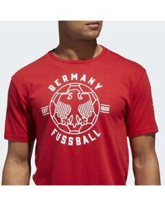 Adidas-Germania-Fussball-Calcio-Lineare-Icon-T-Shirt-Large-Save-25