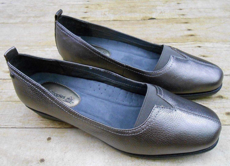Hush Puppies Cuero Comodidad Comodidad Comodidad Zapatos para mujer Talla 9.5 M Peltre Perla Carlisle Slip-on  echa un vistazo a los más baratos