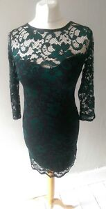 ATMOSPHERE-WOMENS-STUNNING-LACE-EFFECT-PARTY-SPECIAL-OCCASION-PROM-DRESS-SIZE-10