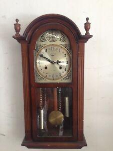 antico orologio a pendolo meccanico da parete leongrin tempus fugit ...