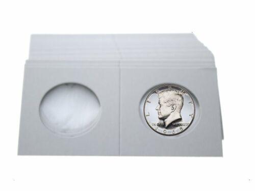 by Guardhouse 50 Cardboard//Mylar 2x2 Coin Holder Flips for Half Dollar 30.6mm