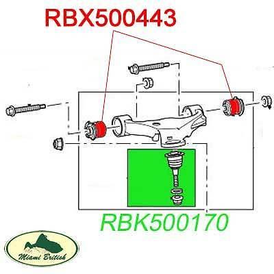 LAND ROVER FRONT UPPER SUSPENSION ARM BUSH SET RANGE SPORT 06-13 LR051625 OEM