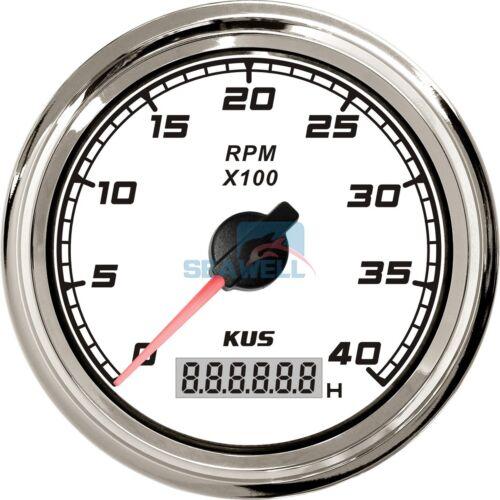 KUS Marine Car Truck Tachometer Boat Motor Digital Hourmeter 12//24V 0-4000 RPM