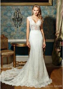 Custom-New-Mermaid-White-Ivory-Wedding-Dress-Bridal-Gown-Size-6-8-10-12-14-16