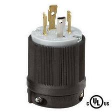 NEMA L14-30 30A 125/250V 3 Pole 4W Grounding Plug w/External Cord Grip L14-30P