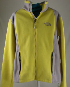 9bc31ff6571 The North Face Yellow Full Zip Khumbu Fleece Womens Jacket Medium