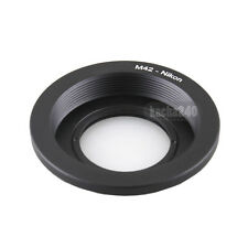 New M42 Screw Lens to Nikon AI F Mount Adapter Ring with Glass Focus Infinity
