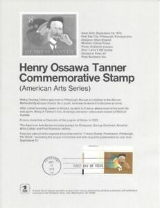 1486-8c-Henry-Ossawa-Tanner-Stamp-Poster-Unofficial-Souvenir-Page-Flat-HC