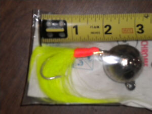 COD bottom bouncer cannon ball  4oz WHITE BUCK TAIL HALIBUT LING