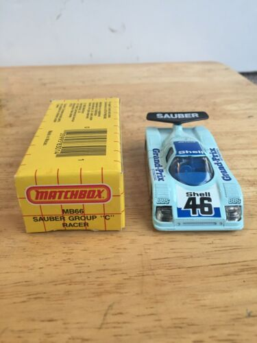 Sauber Group C Racer Matchbox Blue MB 66 NIB 1984