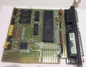 Image Is Loading VINTAGE Serial Parallel Port Card 8 Bit ISA