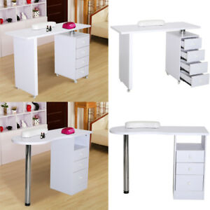 White Manicure Nail Table Station Desk Spa Beauty Salon Nail Art ...
