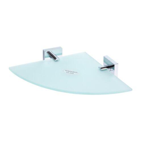 Glasablage Eckmodell 255x55x255mm Milchglas Chrom Badartikel Zubehör Lagerdeal