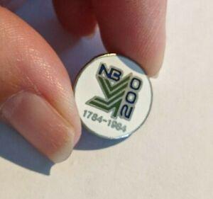 Vintage-Enamel-Pinback-Lapel-Pin-Hat-New-Brunswick-200-1784-1984