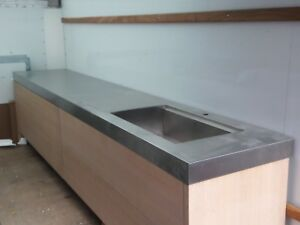 Details About Amazing Kitchen Cabinets By Florense 12 Foot Stainless Steel Counter With Sink