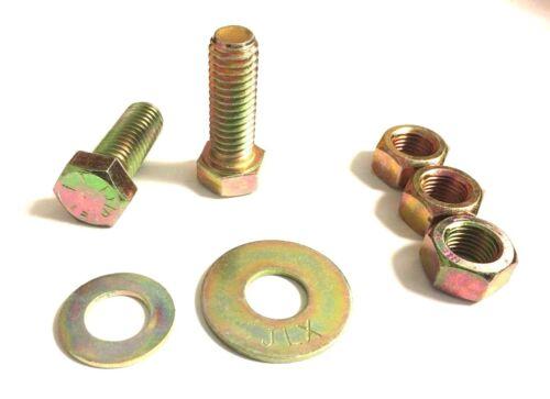 1112 PC Grade 8 Fine Thread Bolt Nylon Stop Nut SAE Flat Washer Assortment