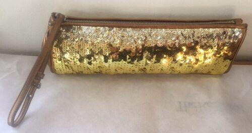 paillettenlederen Clutch Bag Miu gouden polsbandje Purse DH2WIE9