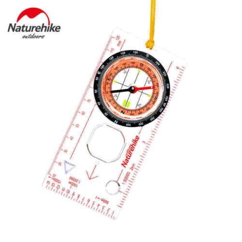 Transparent Compass Direction Guide Scouts Army Survival Camping Outdoor