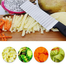 Stainless Steel Potato Wavy Cutter Vegetable Fruit Knife Slicer Kitchen Tools
