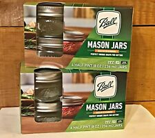 Ball Collection Elite Wide Mouth 8oz. Mason Jars - 4 Count