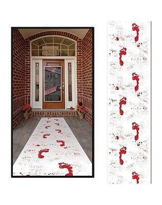 Halloween BLOODY FOOTPRINTS RUNNER Party Decoration WALKING DEAD WALKER Zombie