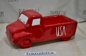 Rae-Dunn-USA-Farmhouse-Truck-Ceramic-Red-Decor-Fourth-of-July-Theme-HTF-NEW-039-20
