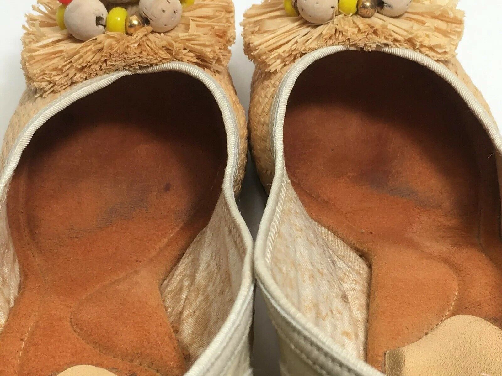 Vintage 40s Shoes Platform CORK Wedge Sandals Str… - image 8