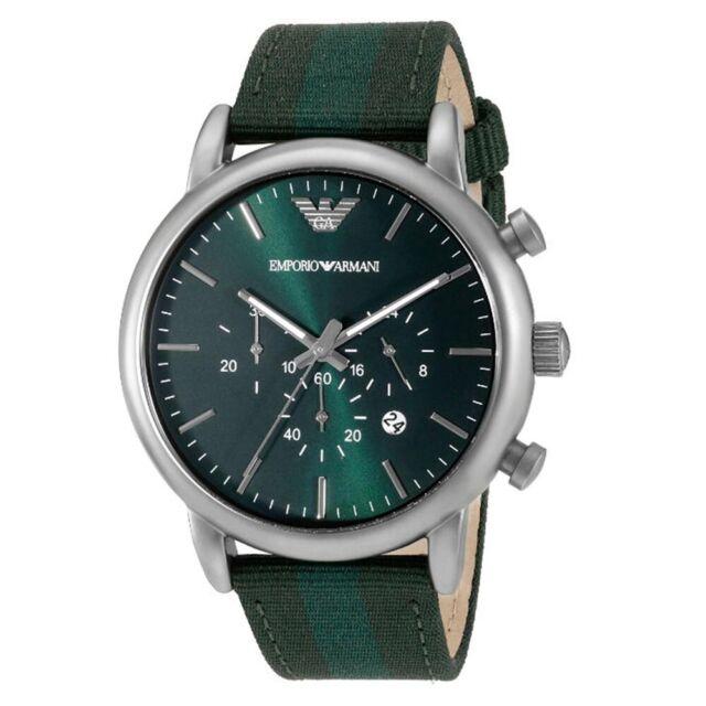 f06f8b01 Emporio Armani Men's Dress AR1950 Green Nylon Quartz Watch