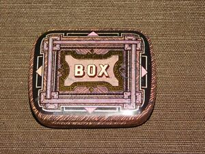 VINTAGE-2-3-8-034-X-1-7-8-034-DODO-DESIGNS-TIN-BOX-EMPTY